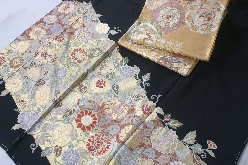 おぼろ染め留袖〈桂由美きものコレクション〉��11×063+壱阡八百口織袋帯��18−558