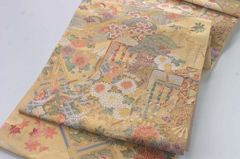 金地 引き箔袋帯 ��18-563