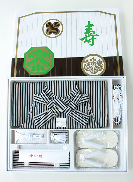 五歳男児 七五三用袴〈はかま〉セット(仕立上がり・化粧箱入り)